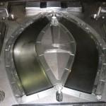 1600ton用射出成形用金型 固定側